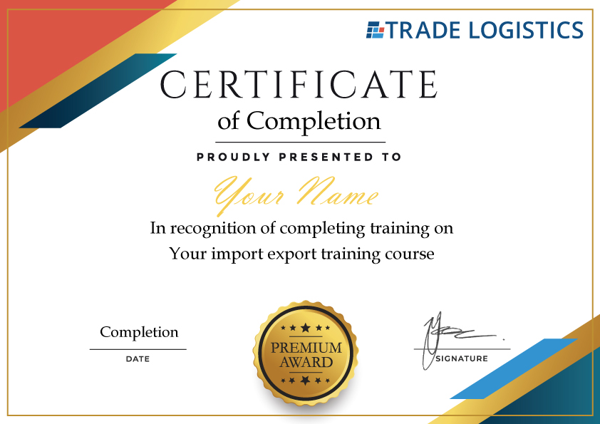 import export training Certificate-template-pic